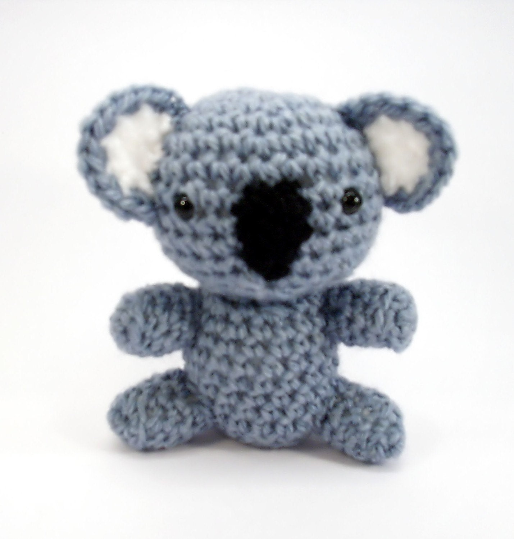 Grey Bear Amigurumi Crochet Pattern : Items similar to Amigurumi Koala Bear - Pocket the Koala ...