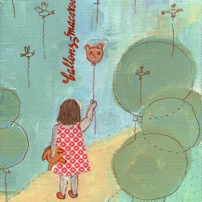 Balloons-macaroons / 5x7'' print