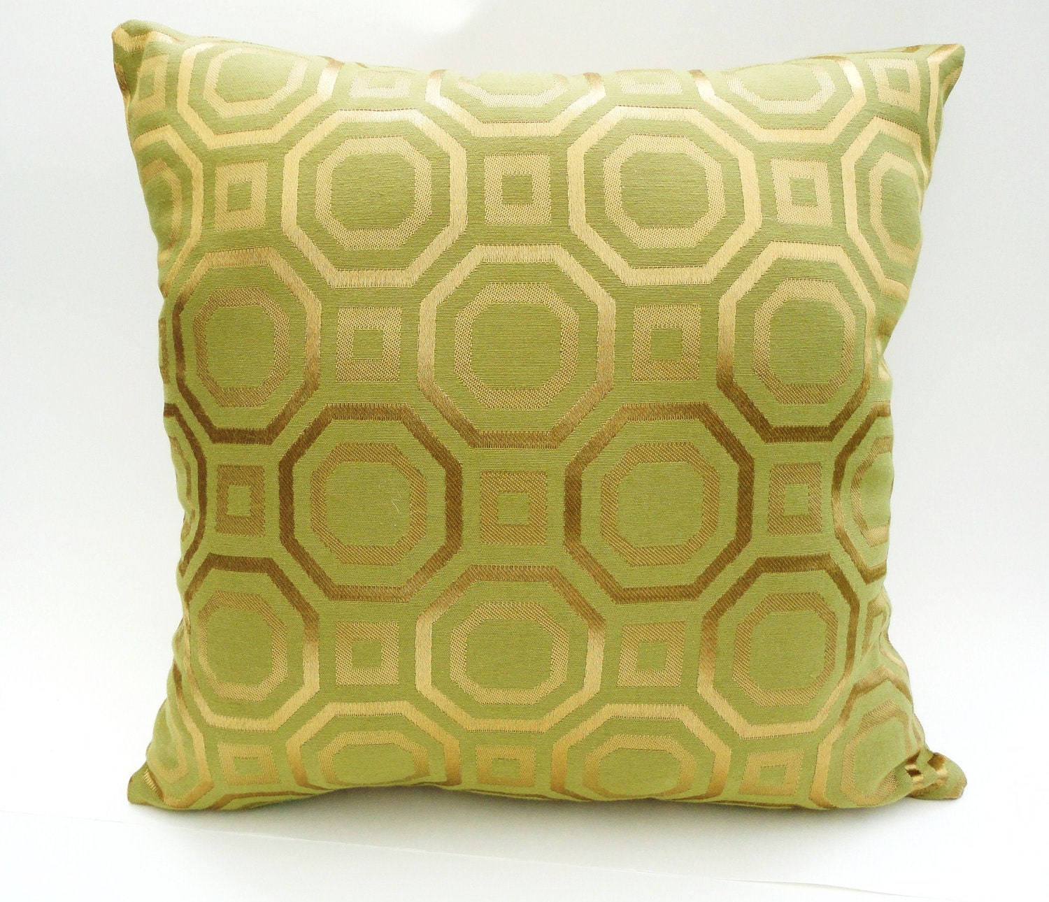 Pillow Cover 16 x 16 (40.5 cm) - Gold Retro Pattern