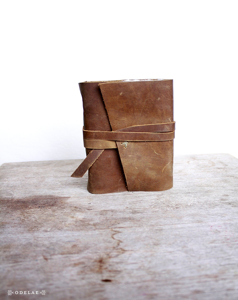 Aerie. Leather Journal - Natural - Handstitched - Writing - Rustic - odelae