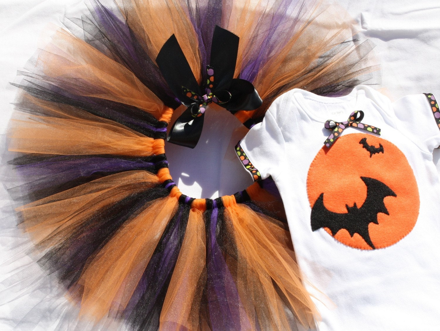 Halloween tutu outfit - READY TO SHIP in size 12 months