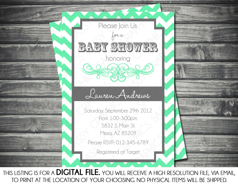 gender neutral baby shower invitation by sassygraphicsdesigns
