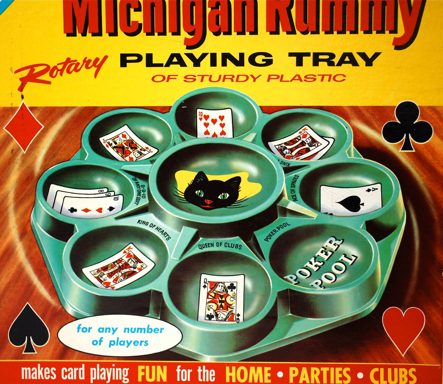 Vintage Michigan Rummy Playing Tray By By Wonderlandtoys