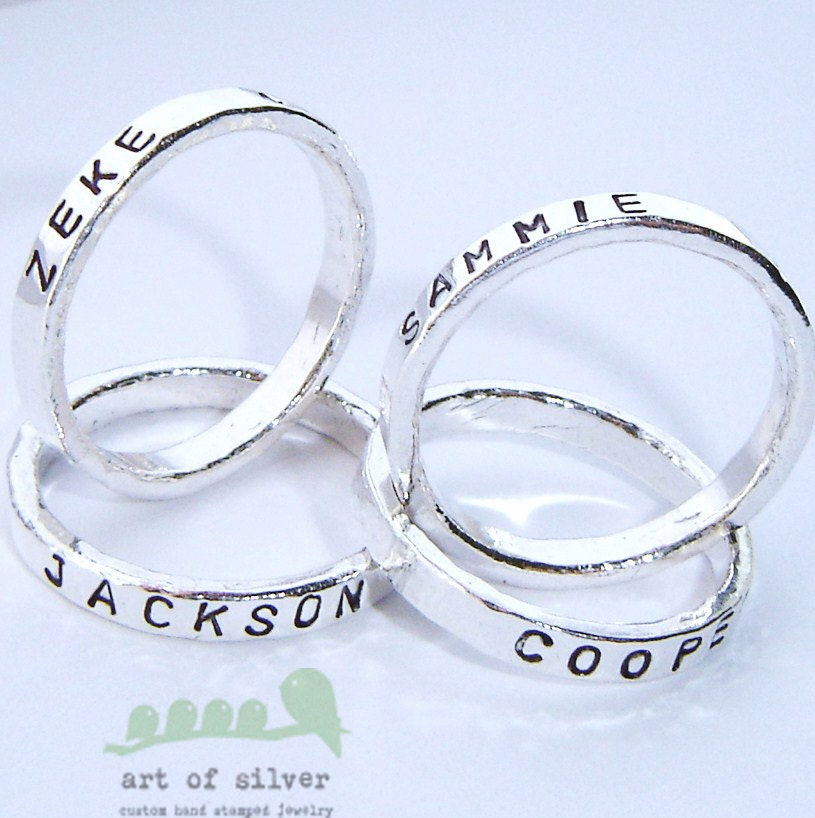 Personalized ring and bands collection