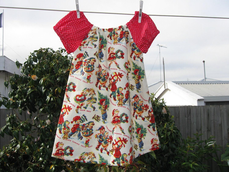 SALE Christmas dress size 1-2T - EvieandLiv