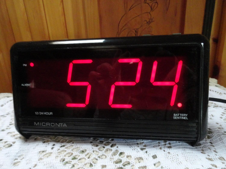 micronta jumbo digital 12 24 alarm clock by daileyshopper on etsy. Black Bedroom Furniture Sets. Home Design Ideas