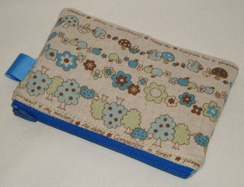 Companions in the Forest Zipper Pouch Pouch  Blue by WolfBait