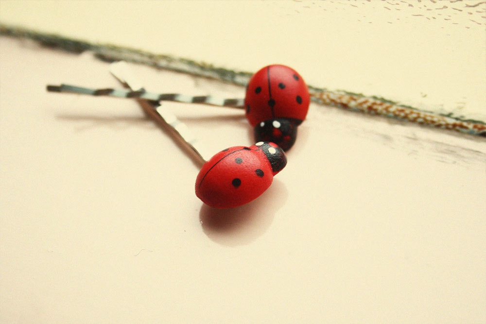 mr big ladybird bobby pins // woodland collection