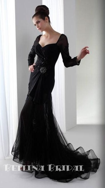 The Little Black Wedding Dress By Bellinabridal On Etsy Stylehive