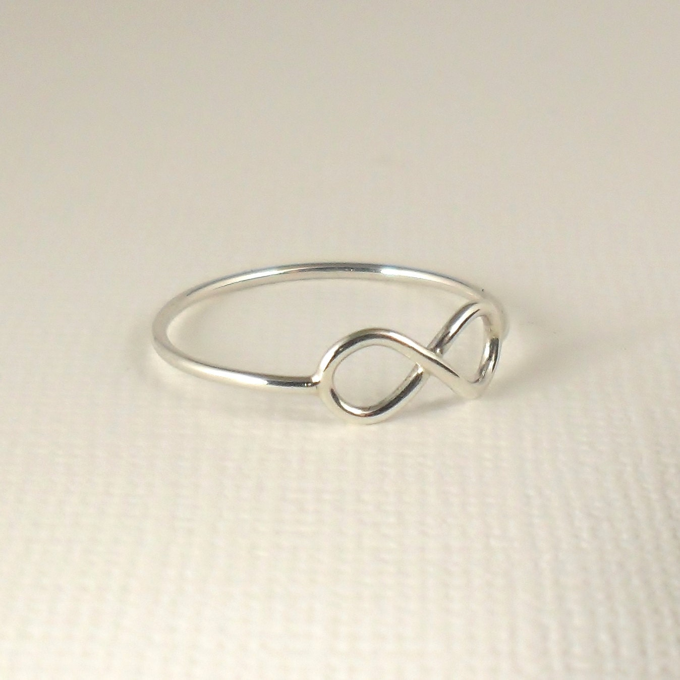 silver infinity ring sterling silver ring by puranajewellery