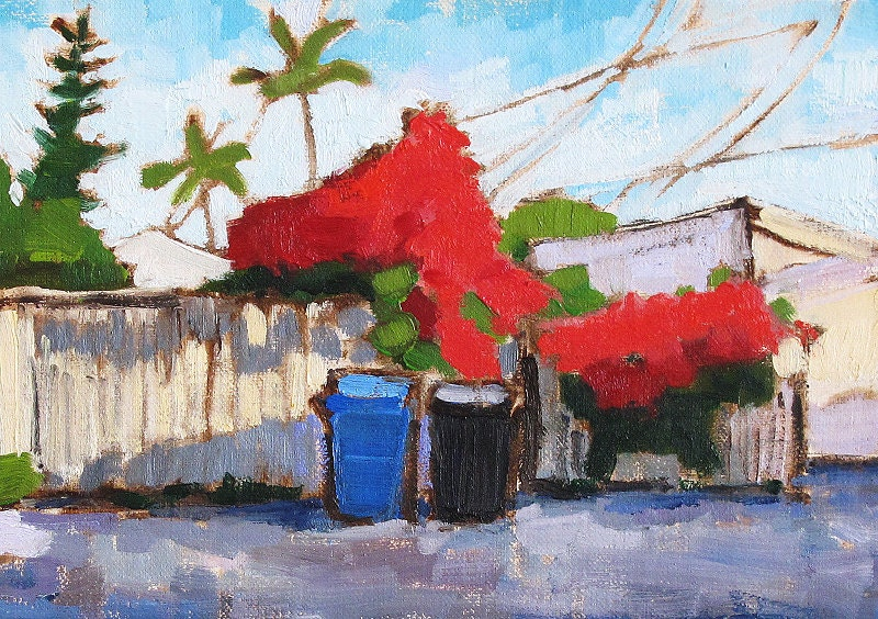 Bougainvillea in San Diego, California Landscape Painting