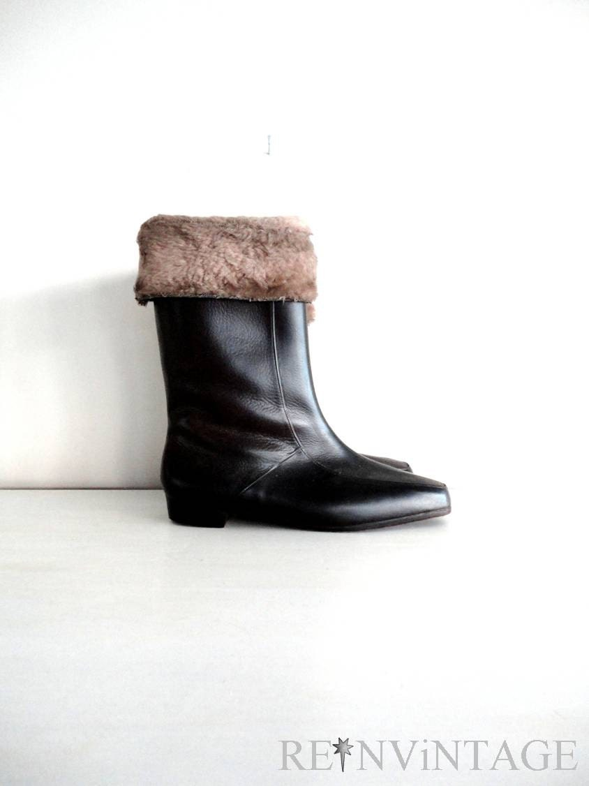 vintage HOT COCOA brown snow boots