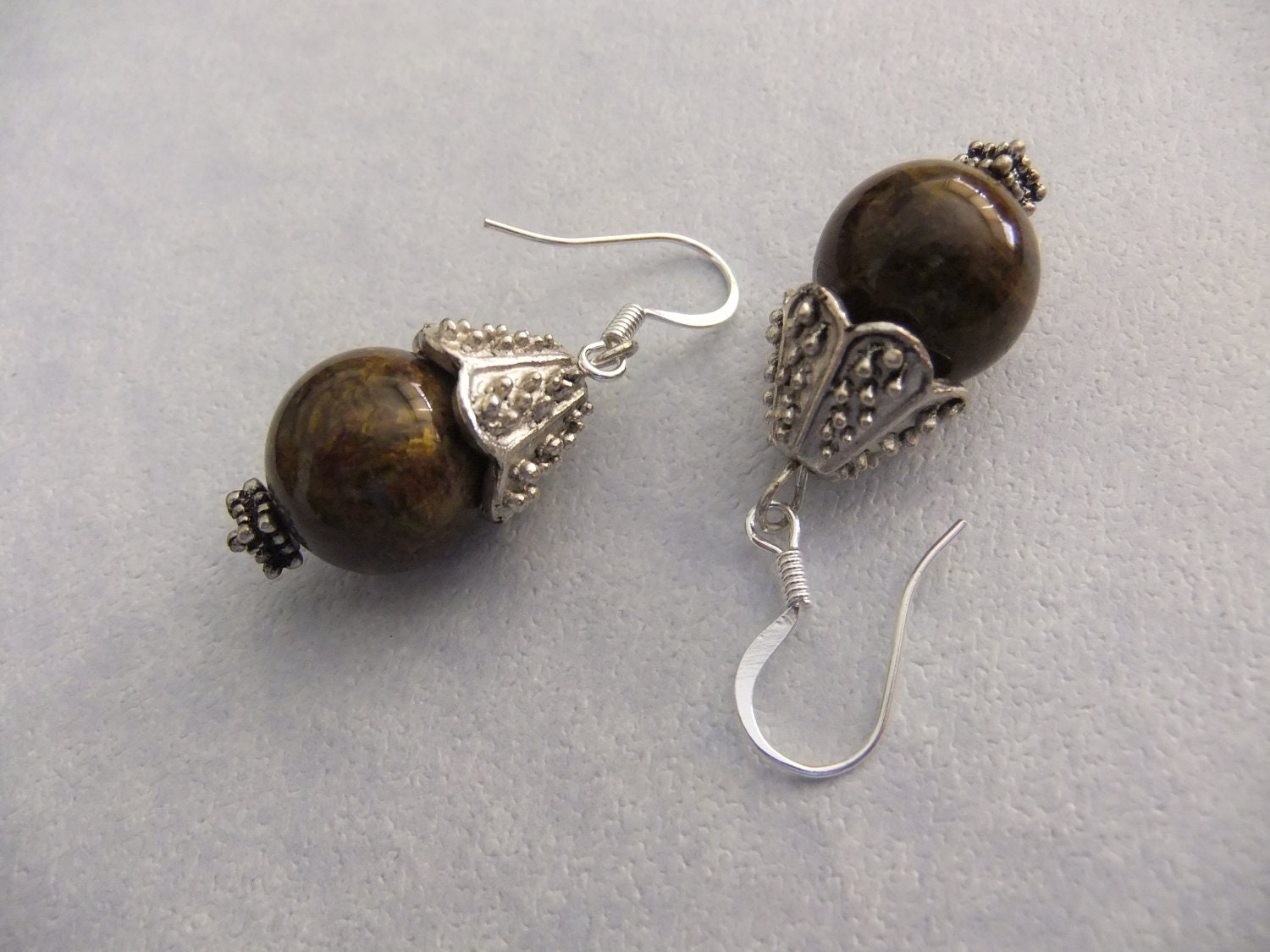 items similar to russian serpentine and silver earrings on