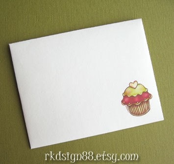 rkdsign88.blogspot.com etsy holidays Christmas cupcake cards cute children painting fun illustration nursery drawing art print cute whimsical reproduction