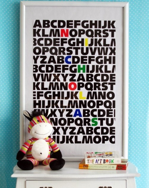 ABC KIDS CUSTOM Name Print (Primary Colors)