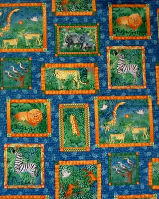 giraffe animal print backgrounds. JUNGLE ANIMALS Quilt Fabric