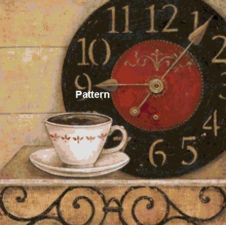 Coffee time N1. Counted Cross Stitch Pattern. PDF Files. Free shipping. - PatternsAndKitsWord