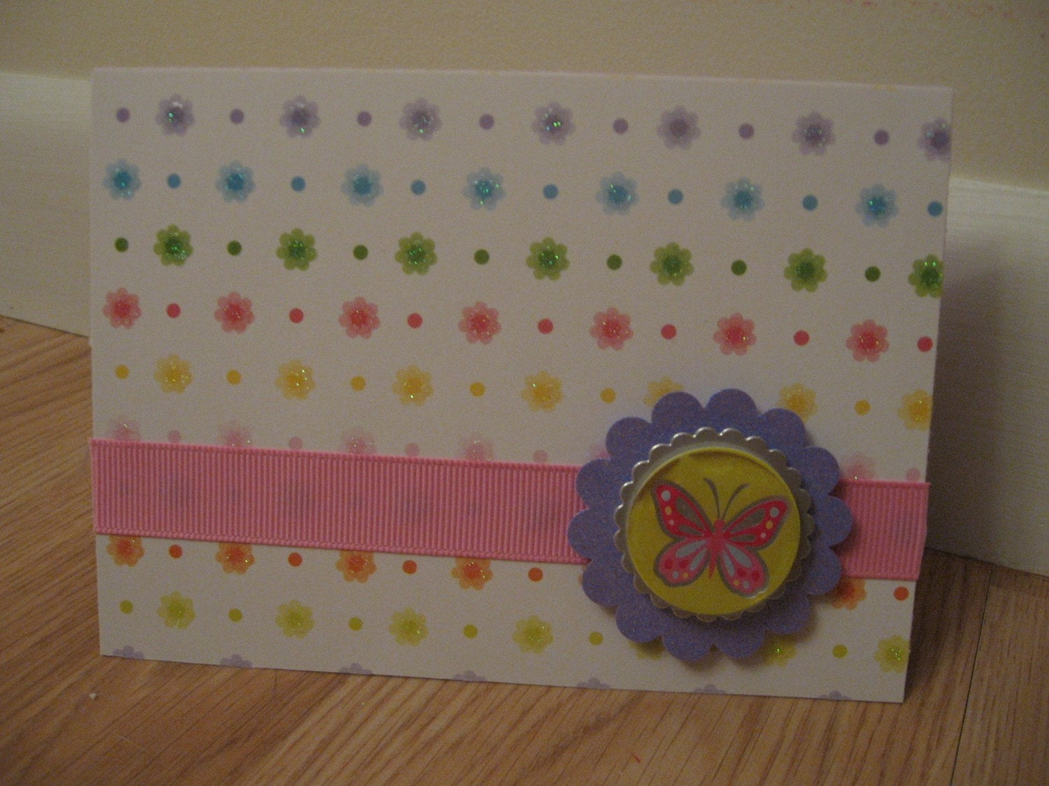 Pastel Butterfly Set of 6 Cards with Envelopes