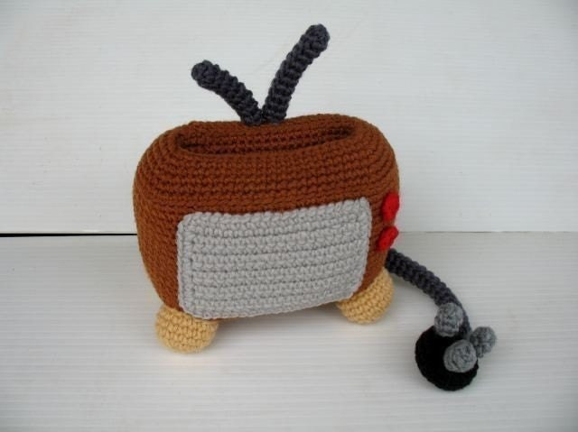 Crochet Pattern - Cell Phone Holder - TELEVISION
