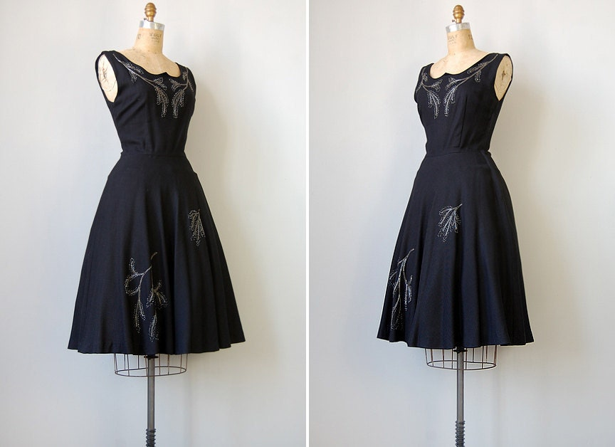 vintage 1950s dress // Across the Night Sky Dress