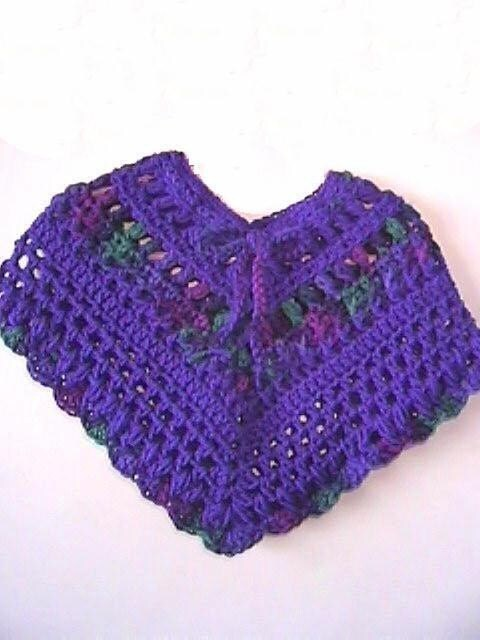 FREE BABY CROCHET PONCHO PATTERNS FREE PATTERNS