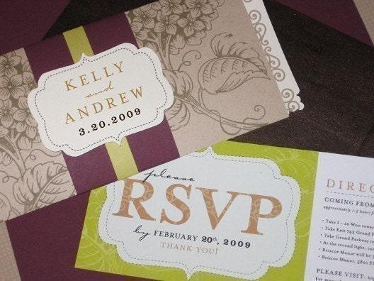 Modern Scroll Wedding Invitation