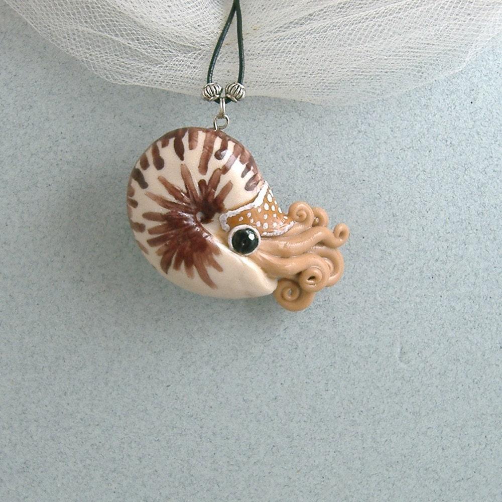 Brown Nautilus Necklace ($30)
