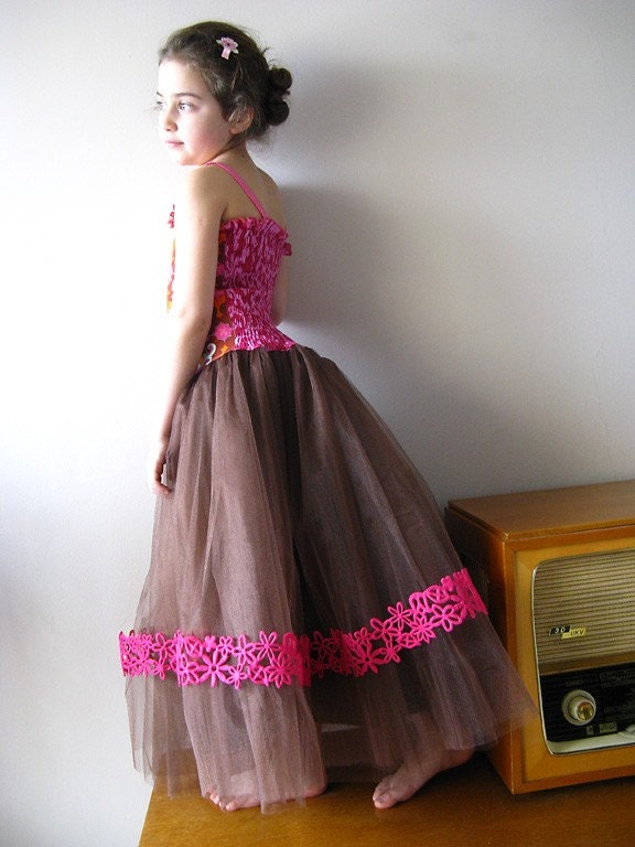 FAB custom Boutique SUGAR SNAP tulle pageant dress with wrap shrug