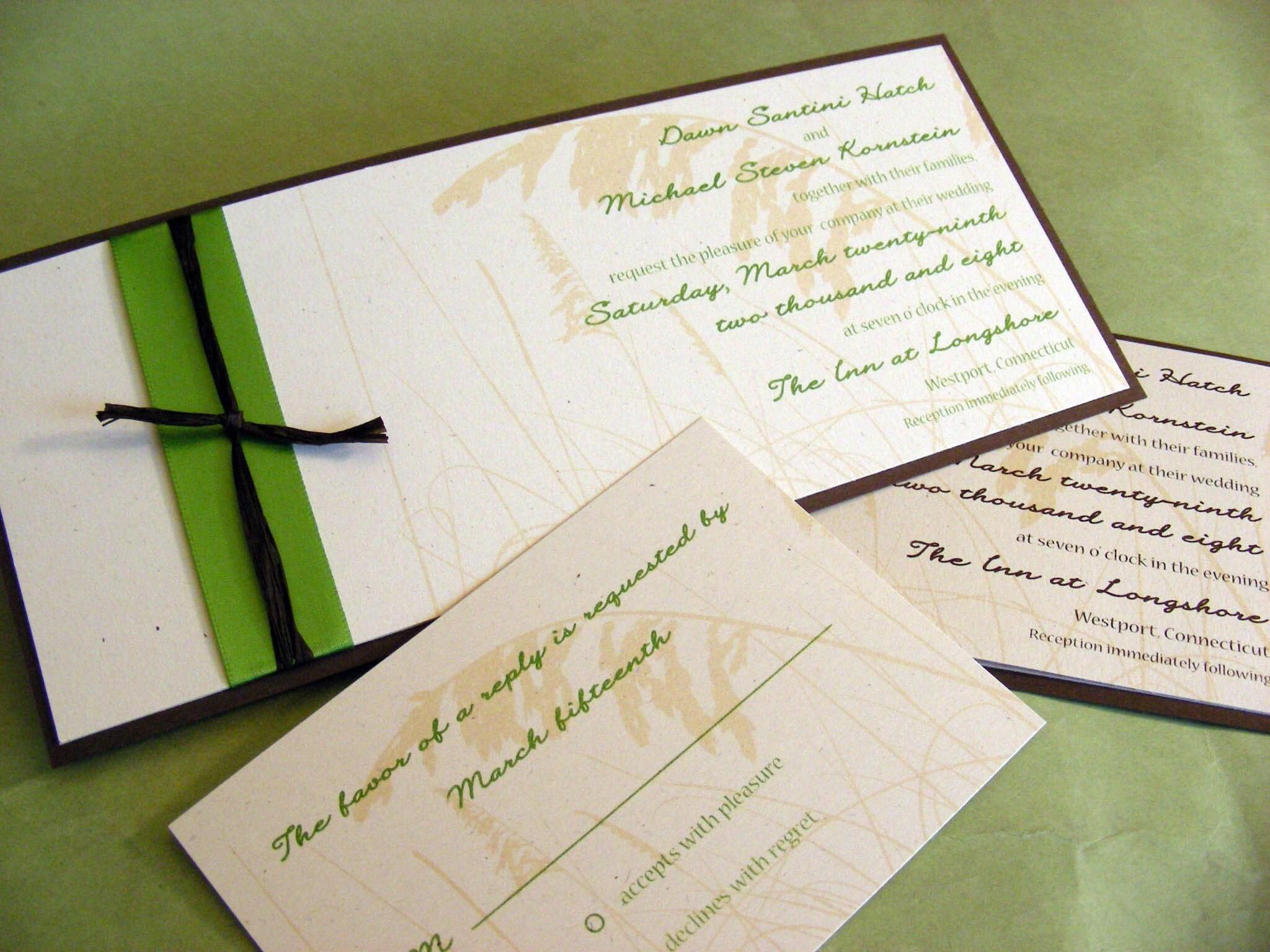 Seagrass Wedding Invitation