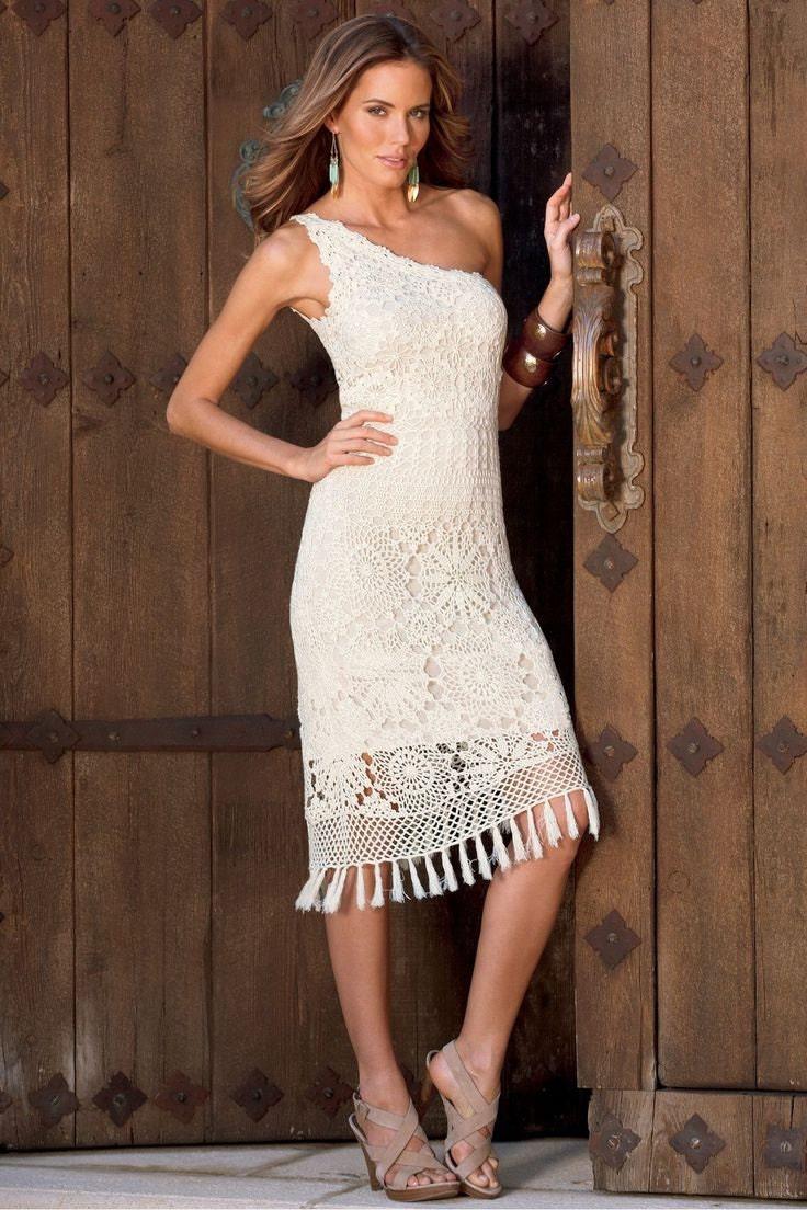 MADE TO ORDER elegant summer crochet dress  RI113