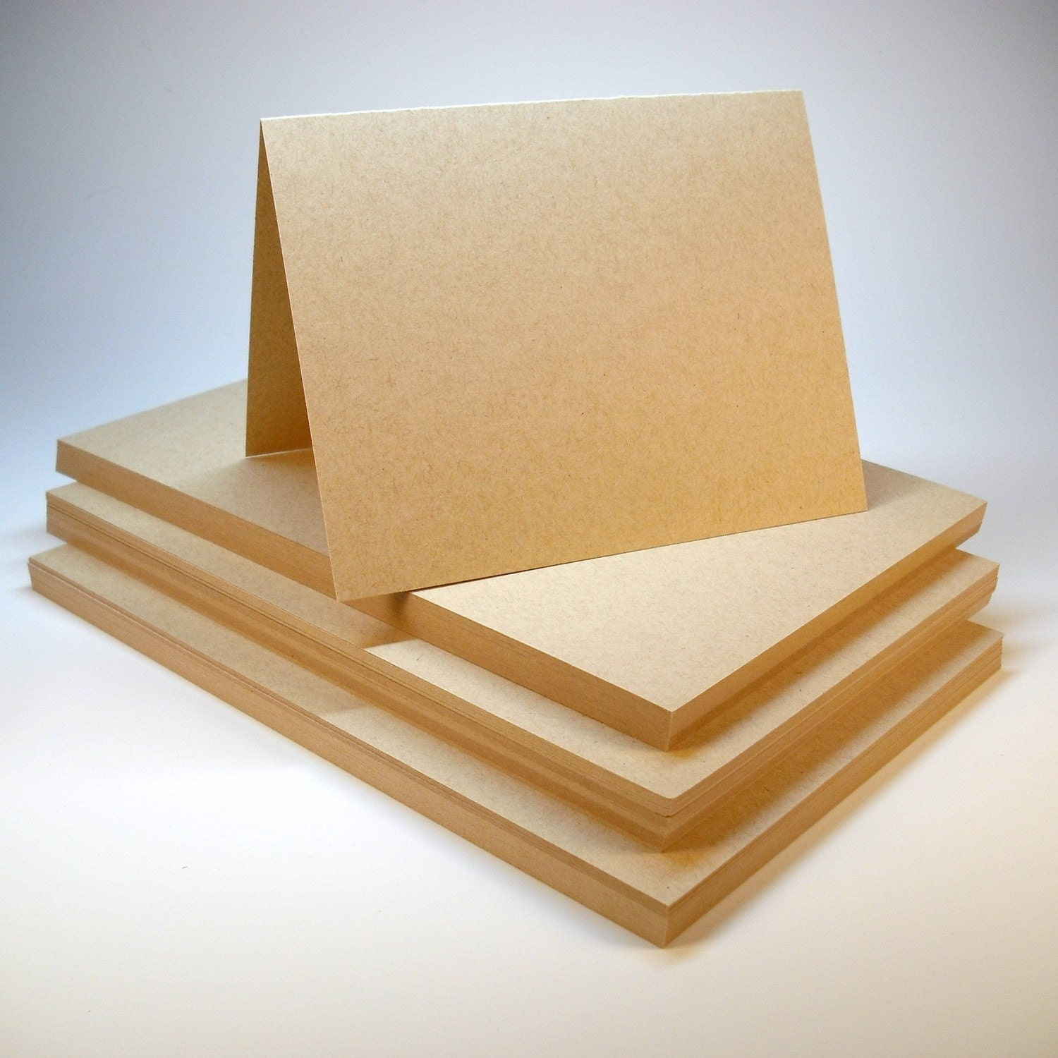 Cardstock 6 1/4 x 9 1/4 Flat Sheets Light Kraft A6