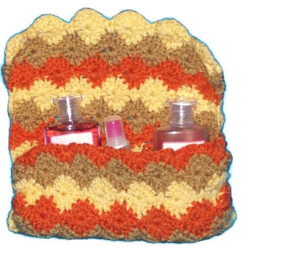 Crocheted  Bag Paolo Purse  Autumn Colors - amydscrochet