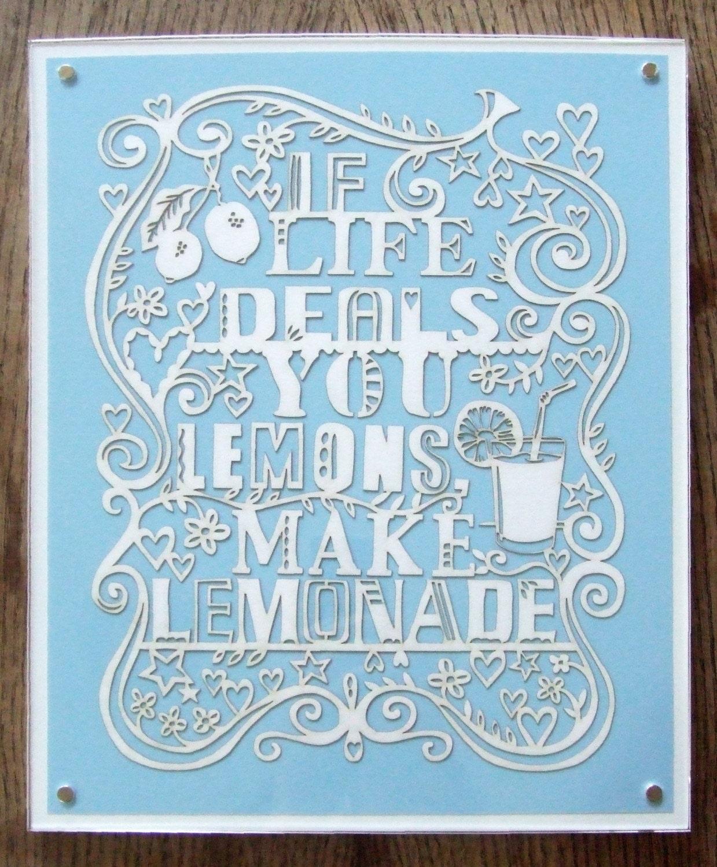 If Life Deals You Lemons Make Lemonade - Laser cut FRAMED