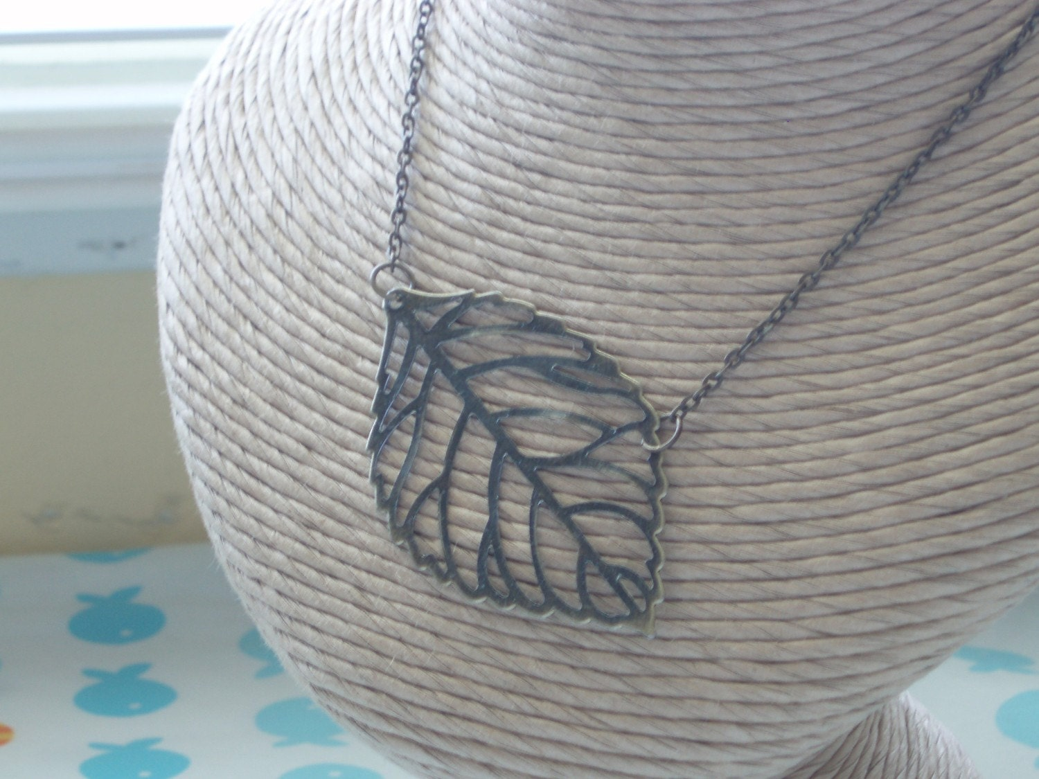 Simple Autumn Leaf Necklace