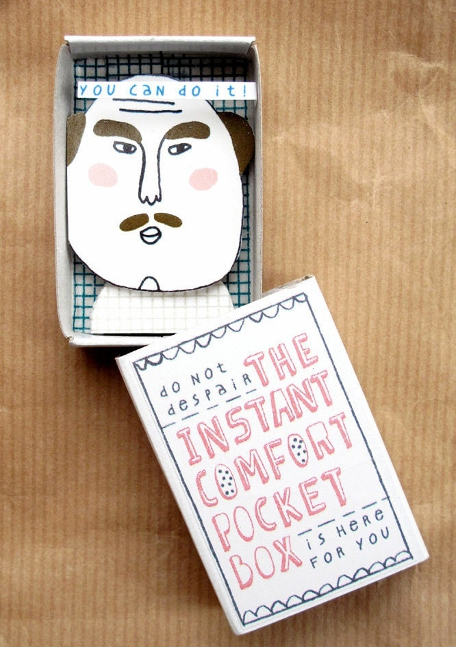 The Instant Comfort Pocket Box - mustache man