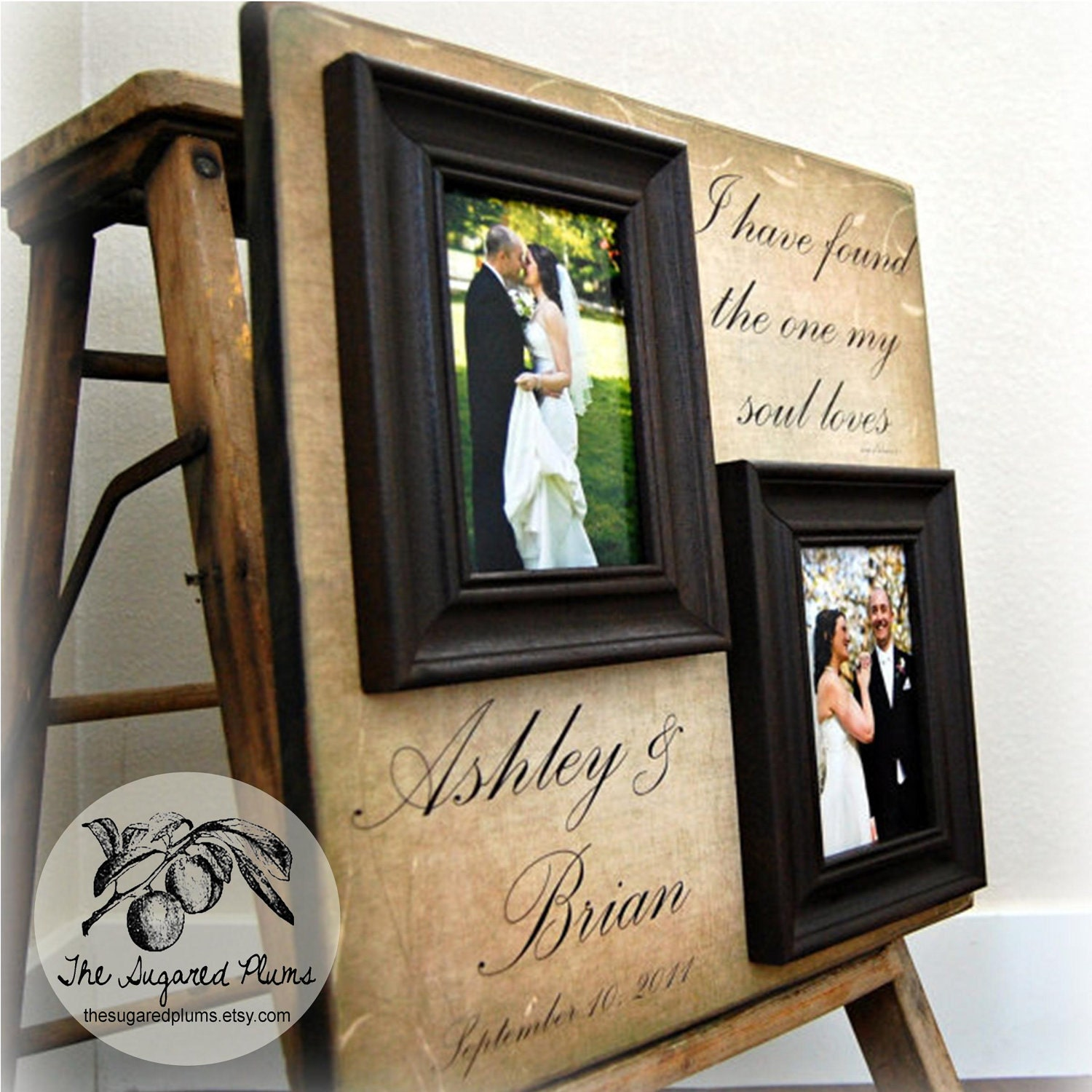 Wedding Gift Personalized Picture Frame : Personalized Picture Frame Wedding Gift Custom 16x16 MY SOUL LOVES ...