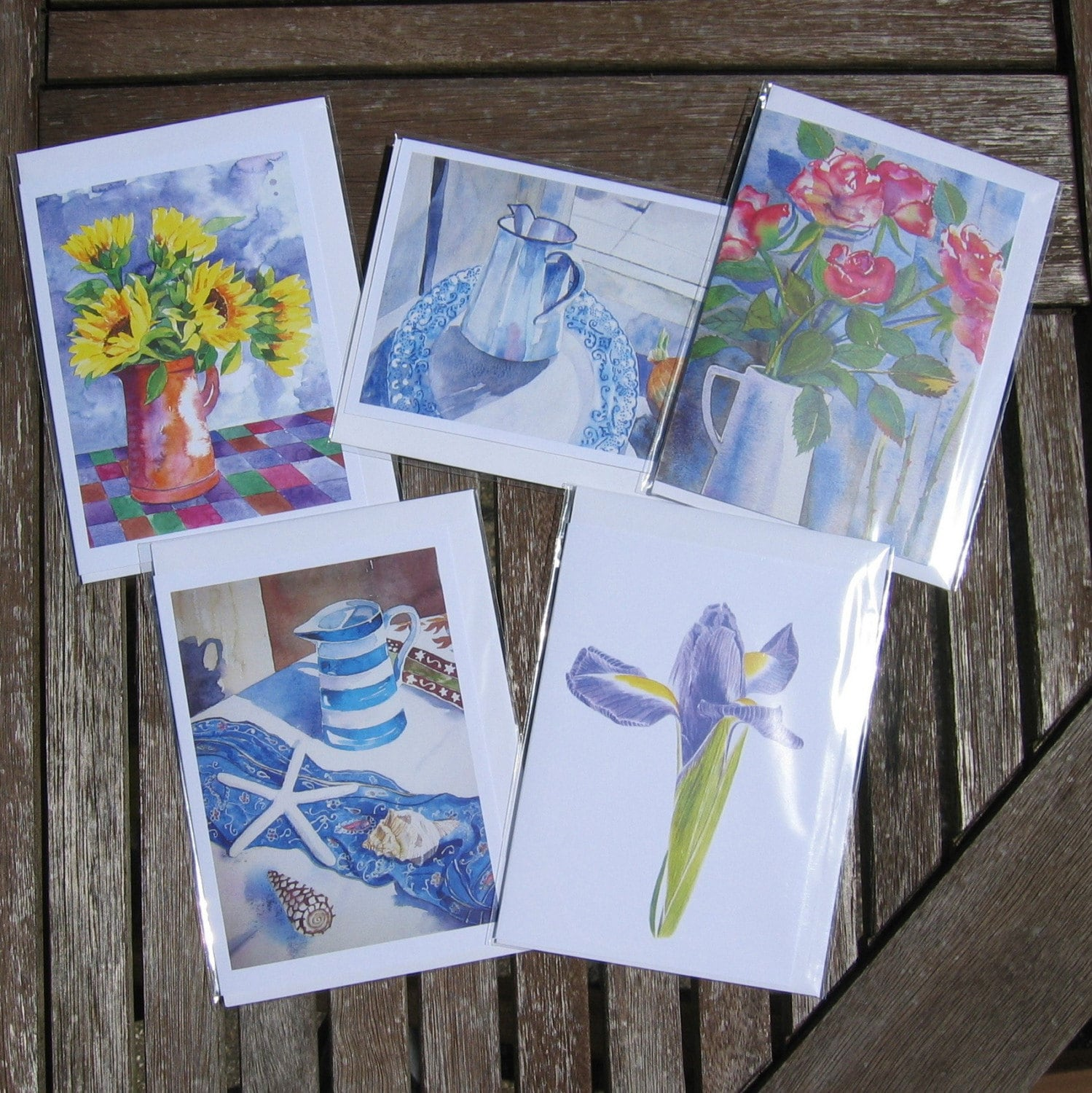 5 Greetings Cards from my Original Watercolours and/or Digital Artwork