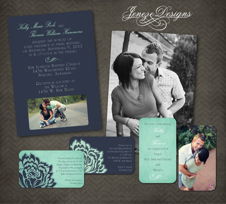 wedding invitation template photographers and photoshop users only