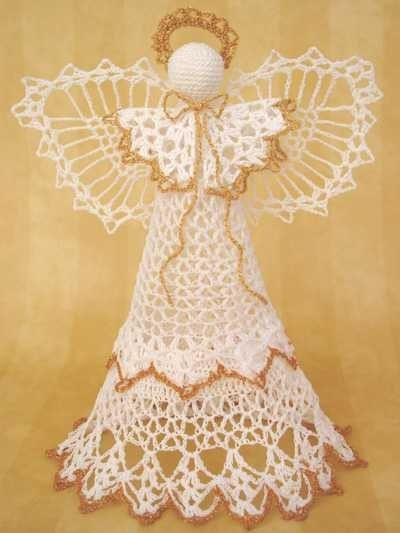 Patrones de angeles a crochet - Imagui
