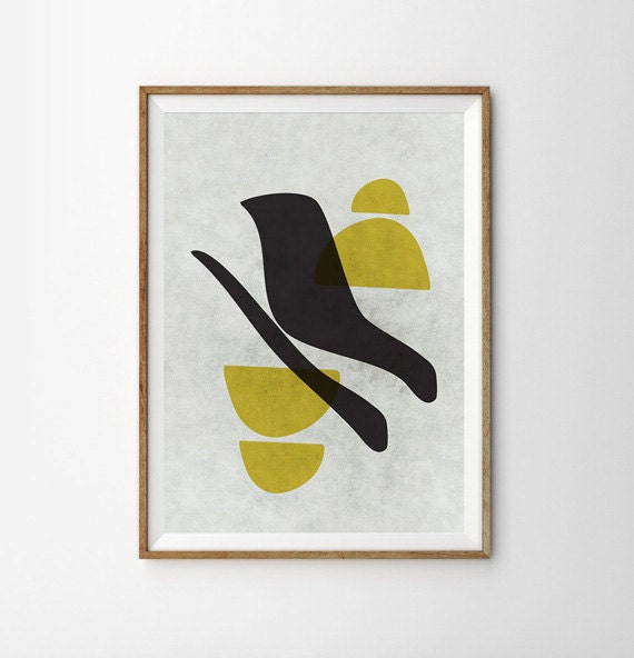 Retro poster geometric art mid century art minimalist by fybur for 1950s minimalist house