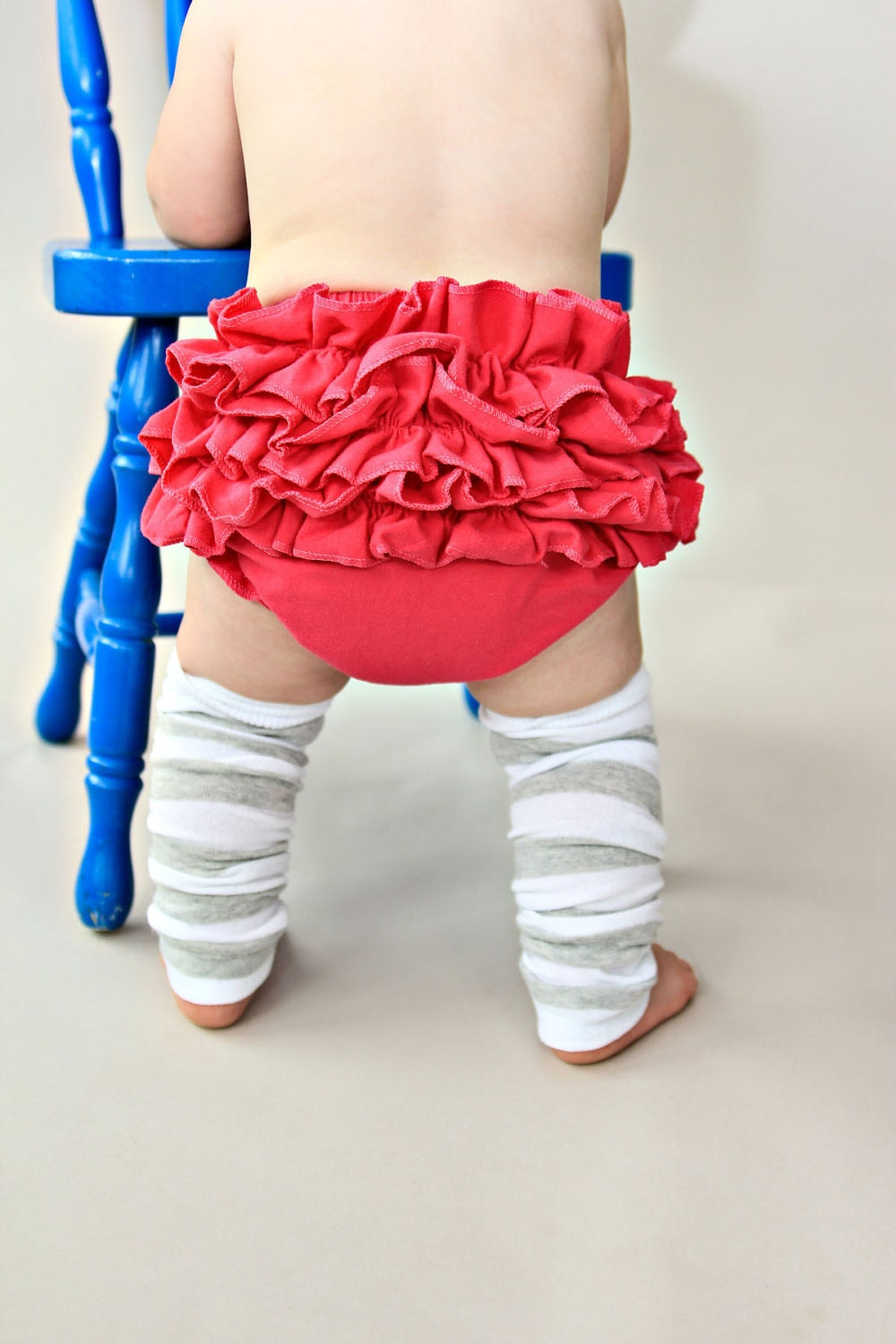 Ruffle bottom Bloomers in Dark Pink  READY TO SHIP convo me for sizes