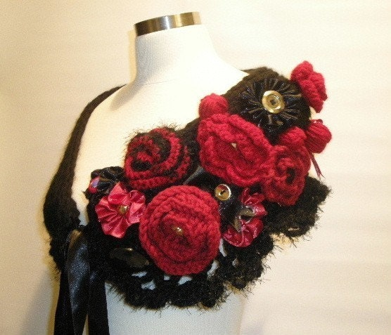 Free shipping black and red roses