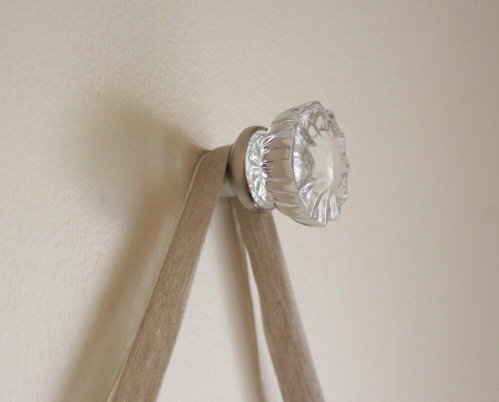 Beautiful Glass Door Knob Hanger Hook For Hanging By