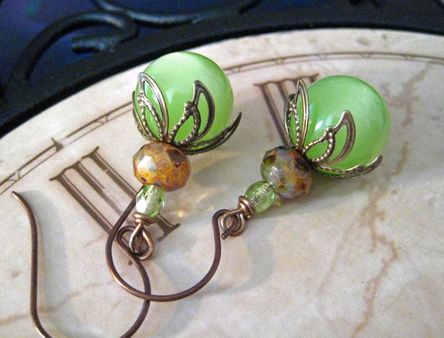 Italian Ice Vintage Inspired Earrings