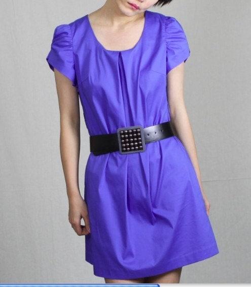 blue seires/ blue silk dress2