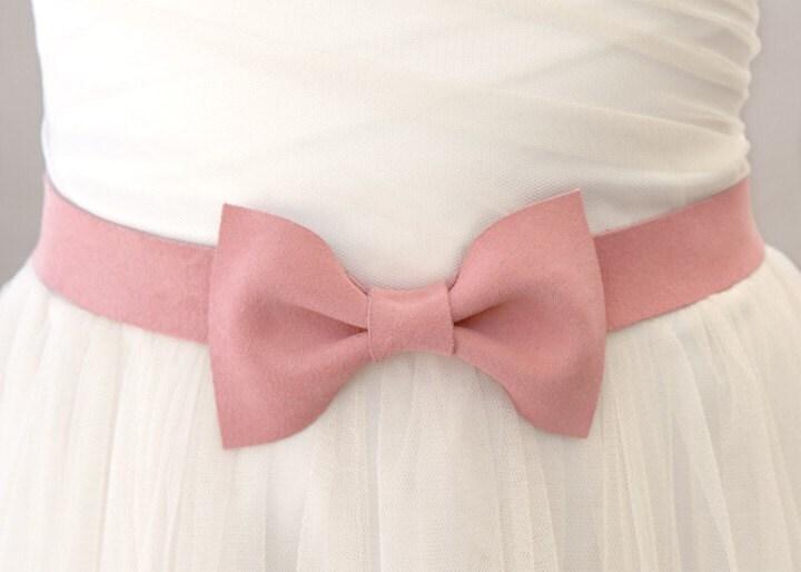 Ballerina Pink Bow Belt