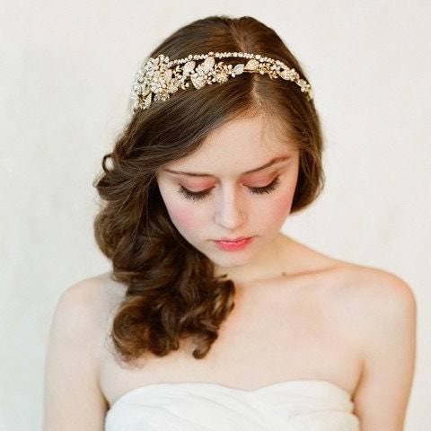 Double band golden tiara - Style 147 - Made to Order