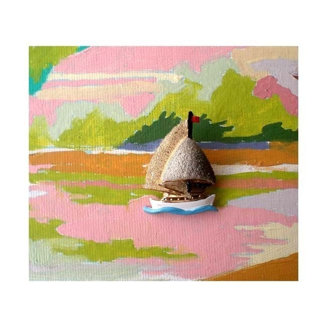 SALE-sailboat pin