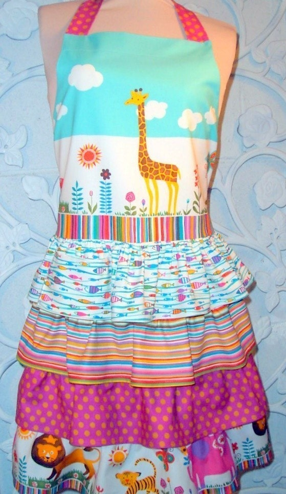 Ruffled Jungle Apron grows up