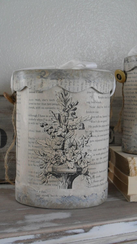Ephemera memory Hand made BOX vintage cottage French Flea market